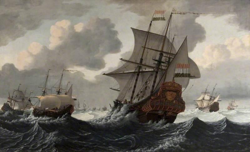 Dutch Men-of-War Beating to Windward