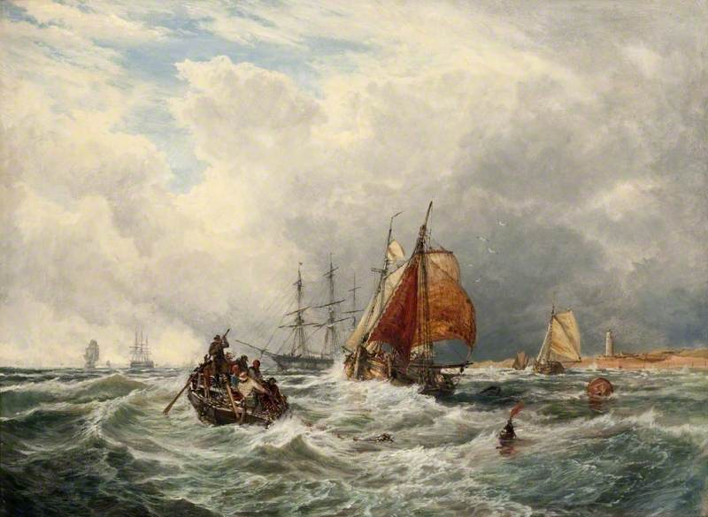 Dutch Lugger Entering the Thames