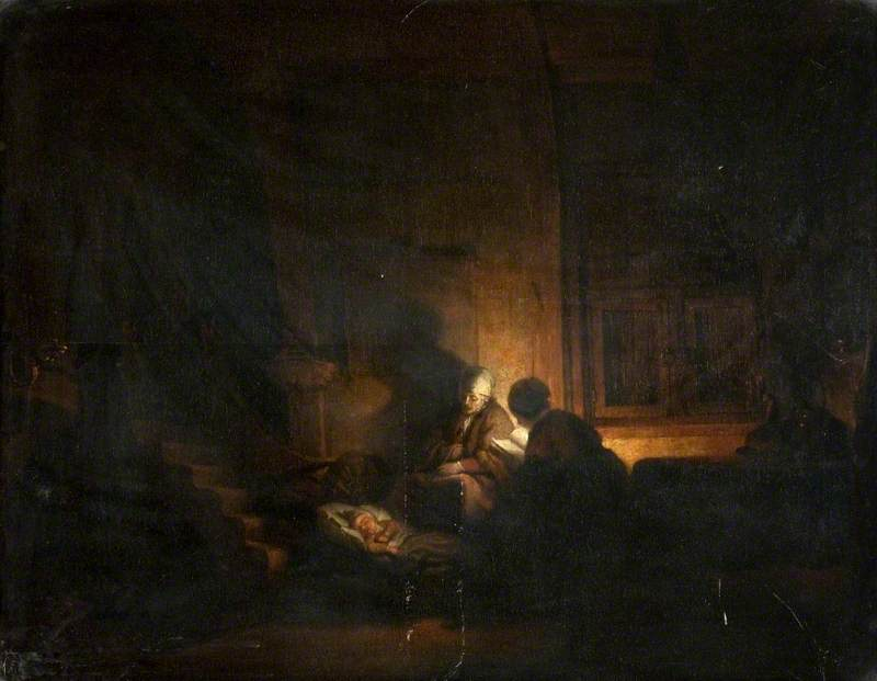 The Holy Family in the Evening