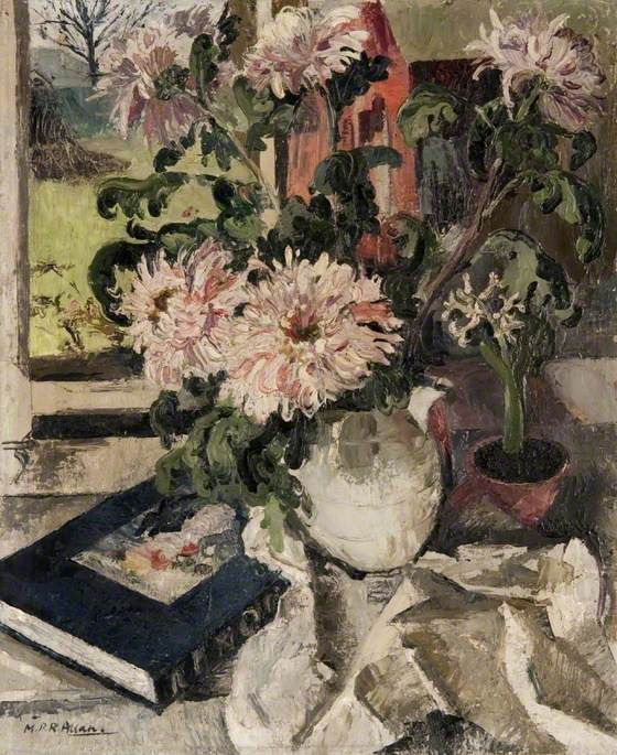 Still Life with Flowers and 'Renoir' Book