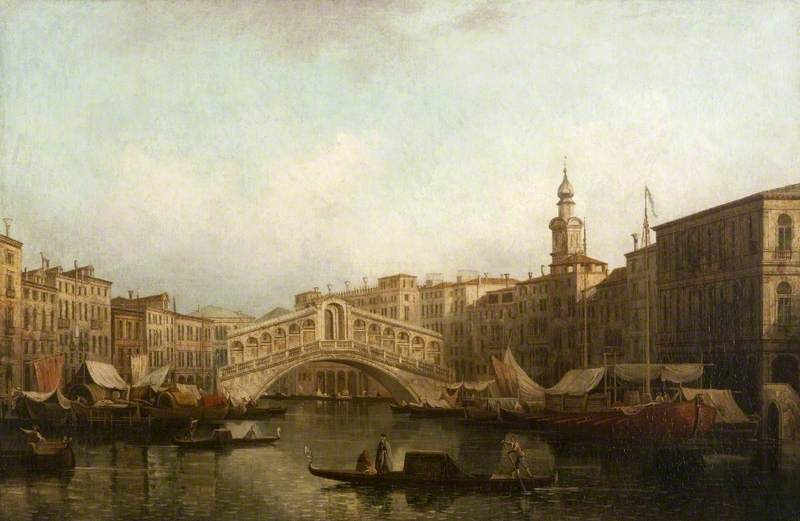 Venice: The Grand Canal, with the Rialto Bridge from the South