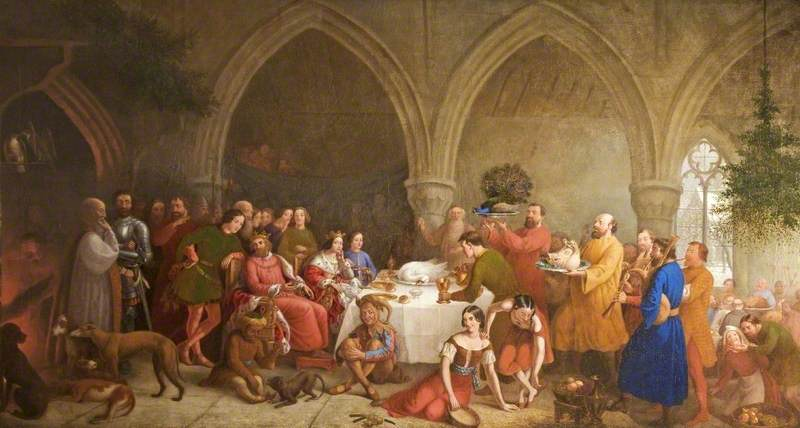 Edward II Spending Christmas at Cirencester, Gloucestershire, 1321