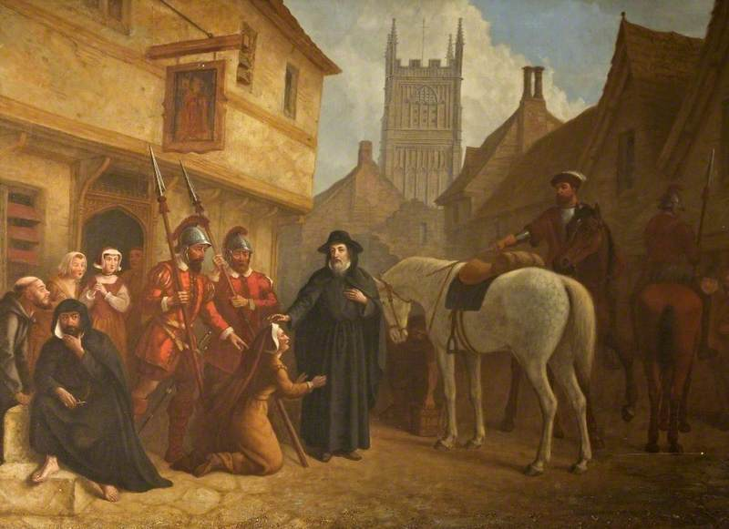 Bishop Hooper in Cricklade Street, Cirencester, Gloucestershire, 1555