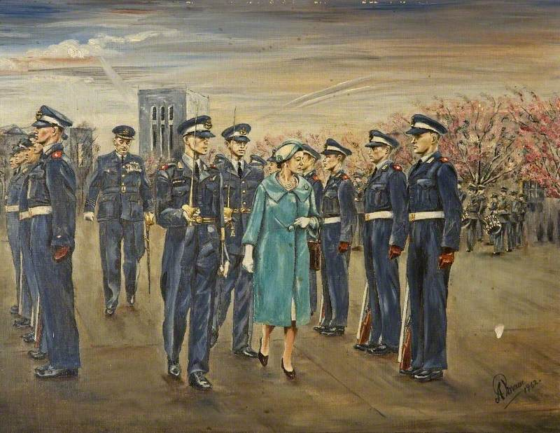 Queen Elizabeth II at RAF South Cerney, Gloucestershire