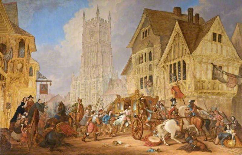 The Attack on Lord Chandos' Coach, Cirencester Market Place, Gloucestershire, August 1642