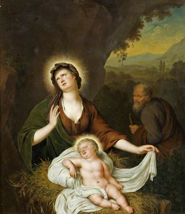 Virgin and Child, the Flight into Egypt