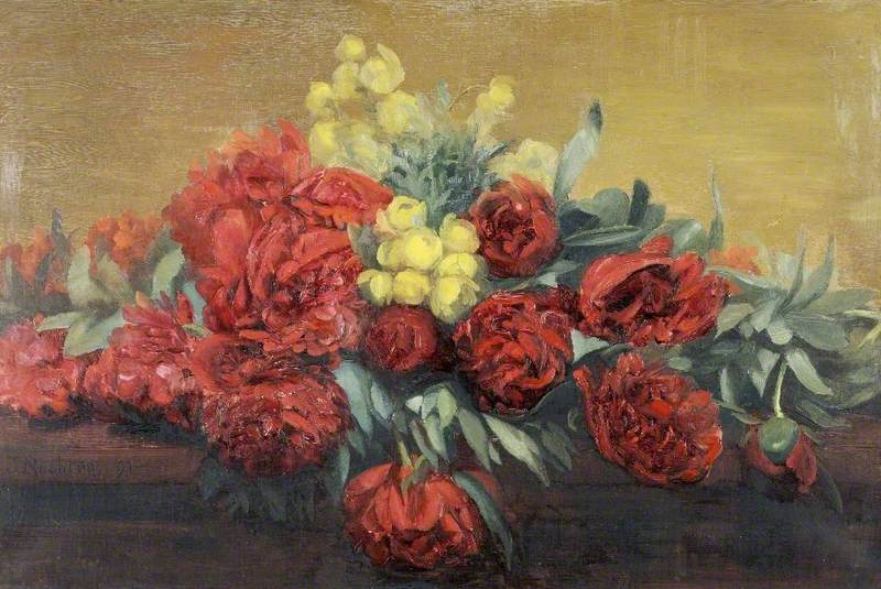 Peonies and Kingcups