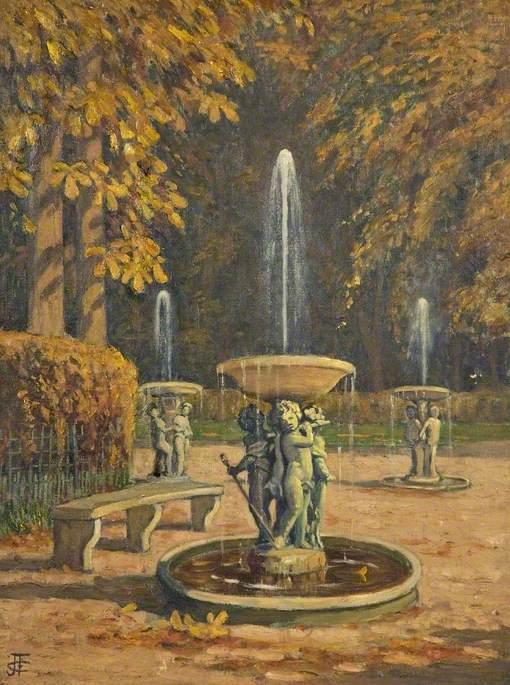 A Garden with Three Fountains