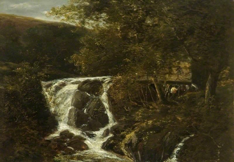 Landscape with a Waterfall near Norwich, Norfolk, 1819