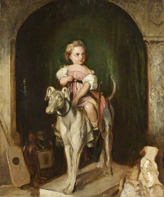 The Artist's Nephew, Matthias, Riding a Dog