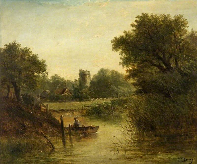 Landscape with a Man in a Punt