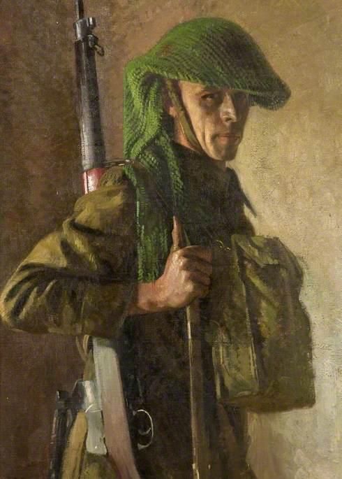 Self Portrait Wearing a Home Guard Uniform