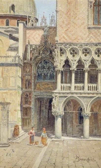 Ducal Palace Door, Venice, Italy