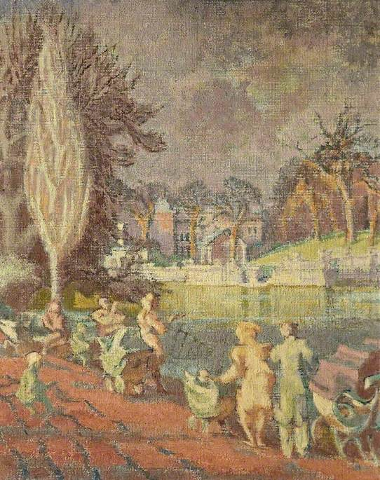 The Serpentine in Spring, Hyde Park, London