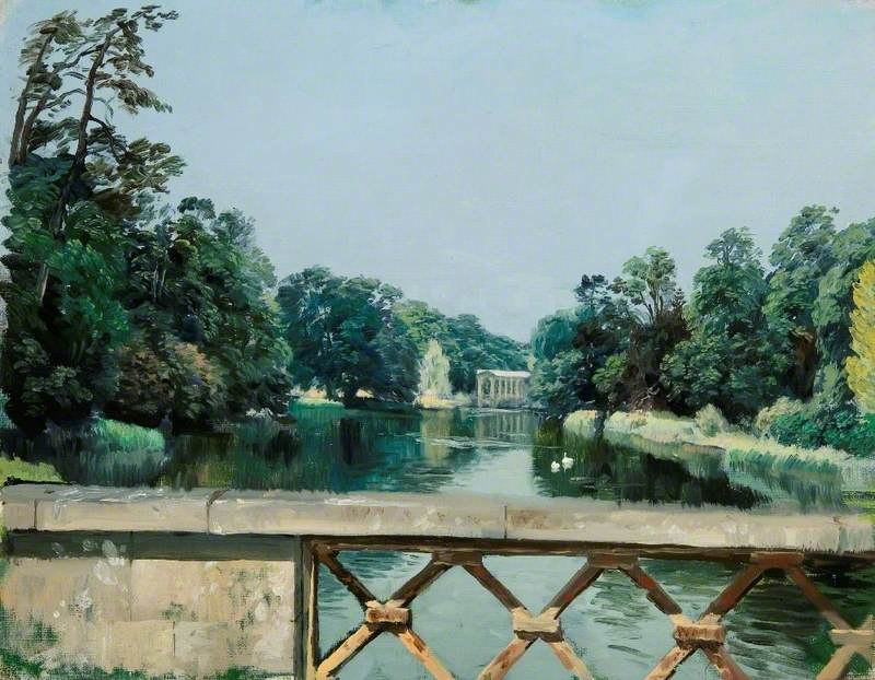 The Dairy Bridge Looking towards the Palladian Bridge, Wilton Park, Wiltshire