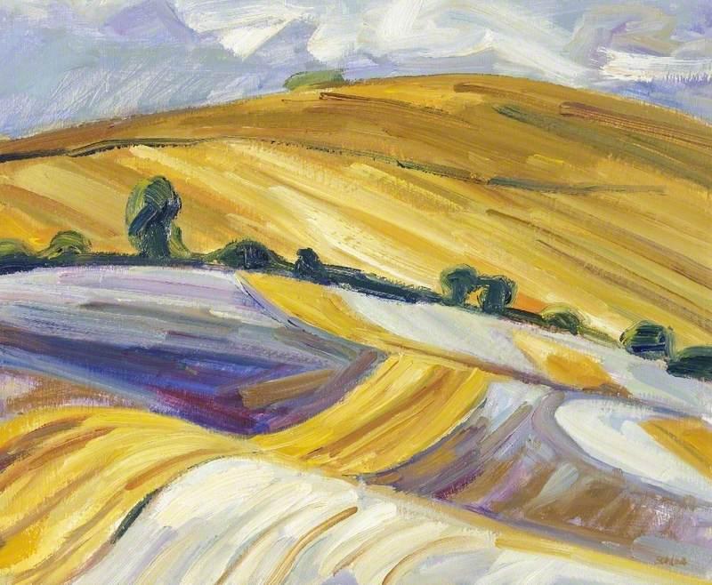 Stubble Field near Rhossili Down