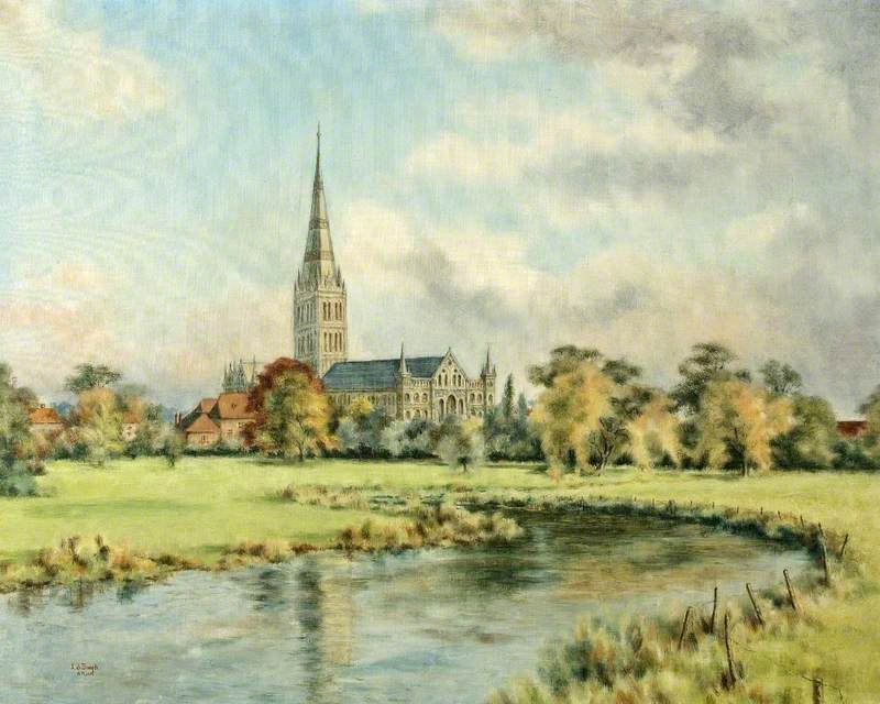 View of Salisbury Cathedral, Wiltshire