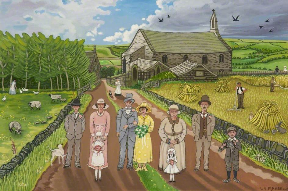 Sunday Wedding at Heights Chapel, Delph, Saddleworth, Greater Manchester