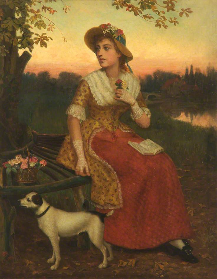 Lady and a Dog