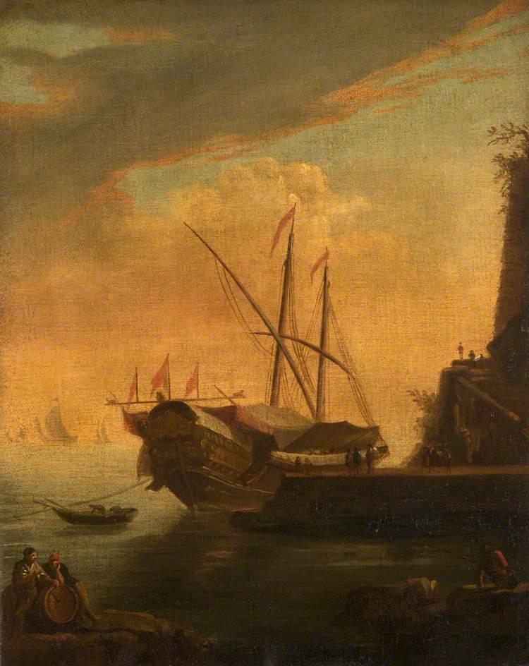 A Galley in a Mediterranean Harbour