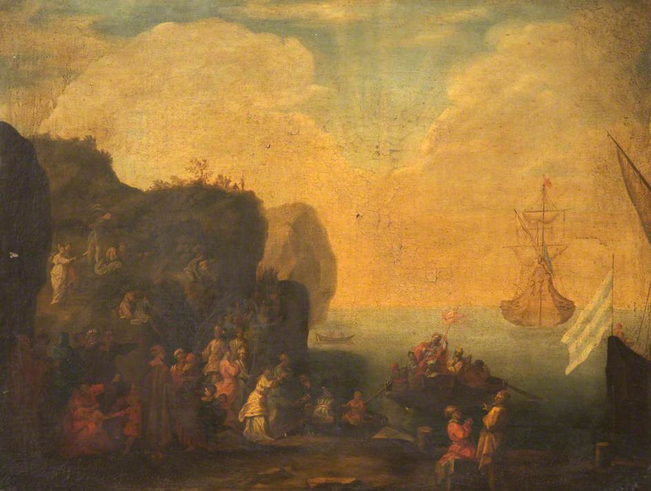 Saint Ursula Arriving on a Rocky Coast