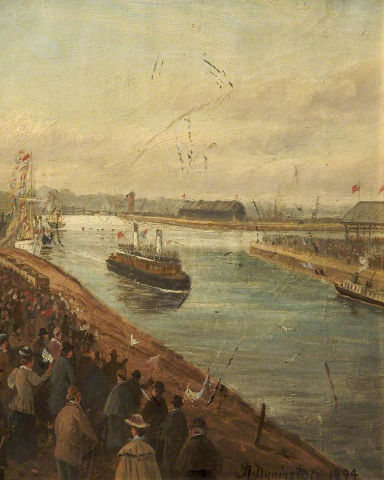 The Opening of the Manchester Ship Canal