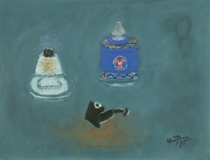 Pot a Tabac, Fond Bleu