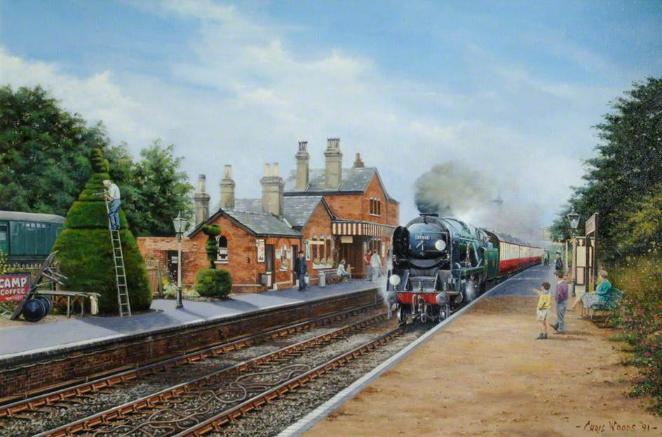 Bodmin at Ropley, West Country Class Locomotive No. 34016 on the Watercress Line near Alton