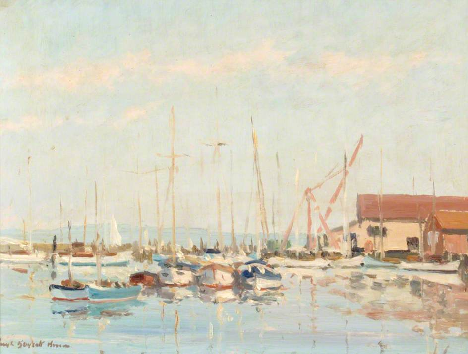 Yachts Moored on the Lymington River