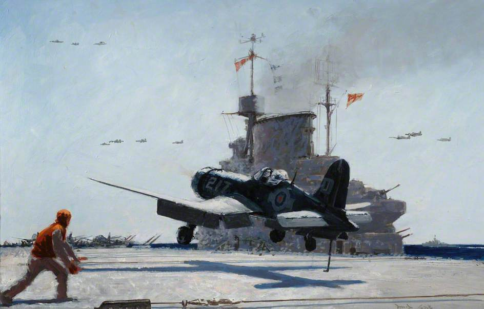 Fleet Air Arm Corsair Landing on