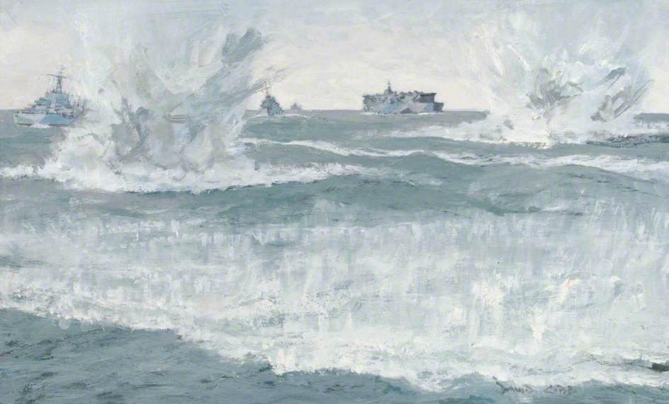 Escort Carrier HMS 'Nairana' Stalked Unsuccessfully by U-Boat 502, 1 February 1944