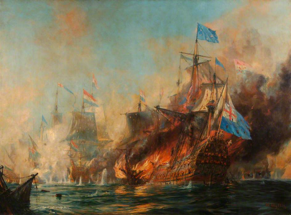 The Battle of Sole Bay, 28 May 1672