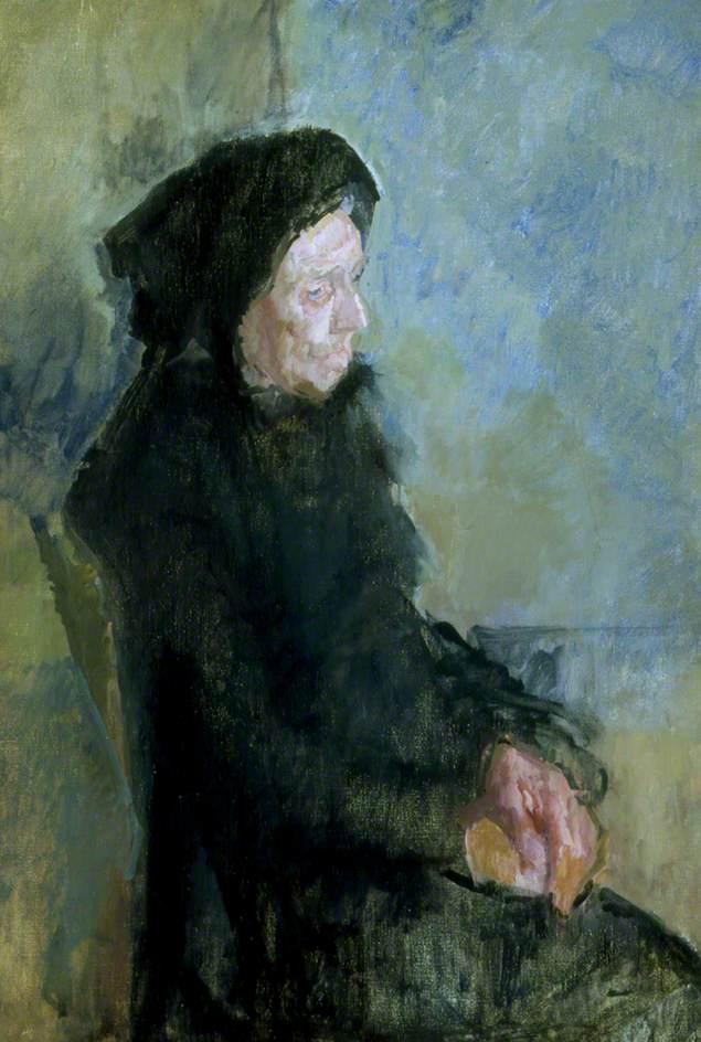 Old Lady in Black