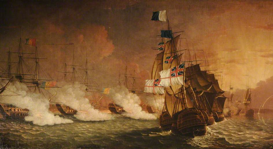 Scene from the Battle of the Nile, 1–2 August 1798
