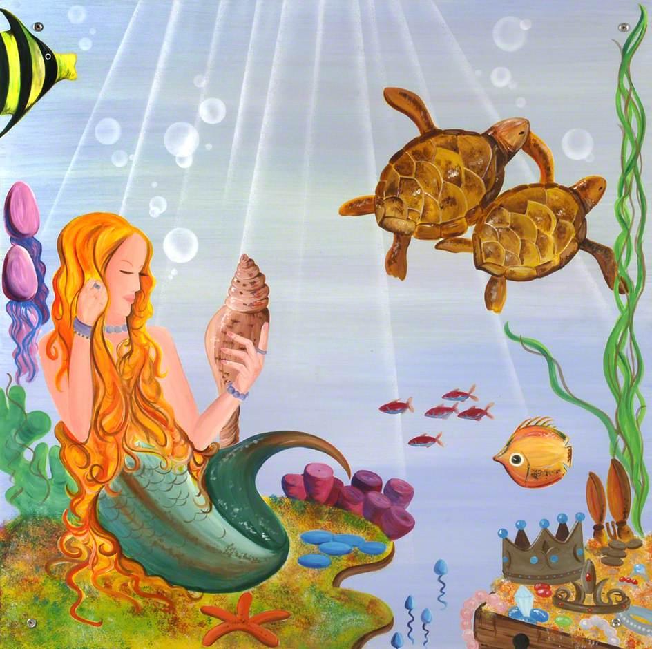 Mermaid and Turtles