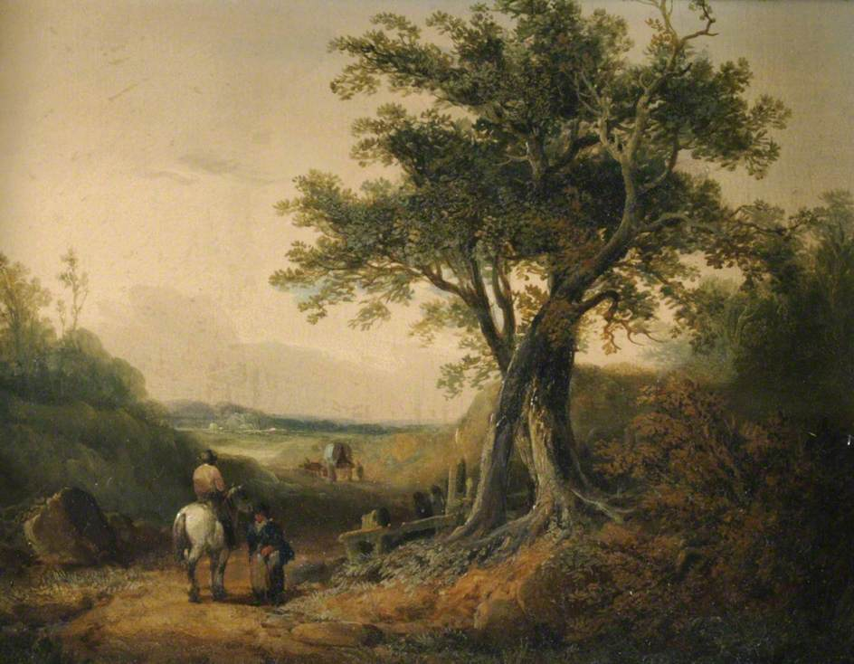 Landscape with Travellers on a Road