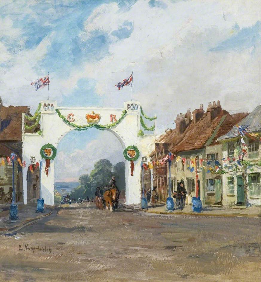 The Jubilee Arch, Bushey, 1935