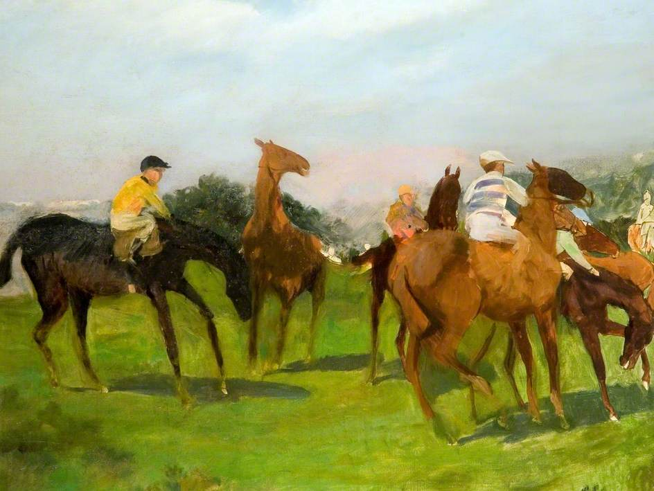 Study for 'Start at Goodwood'