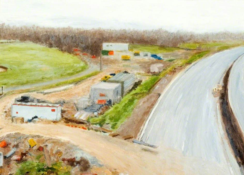 View of the Construction of the M1 Link Road, Bushey