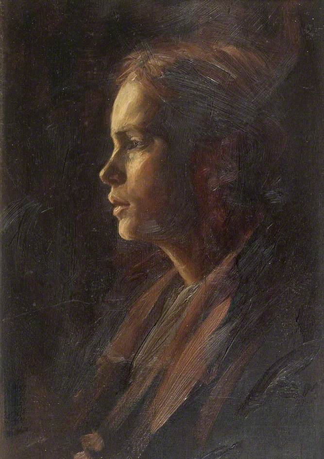 Profile Portrait of a Young Girl
