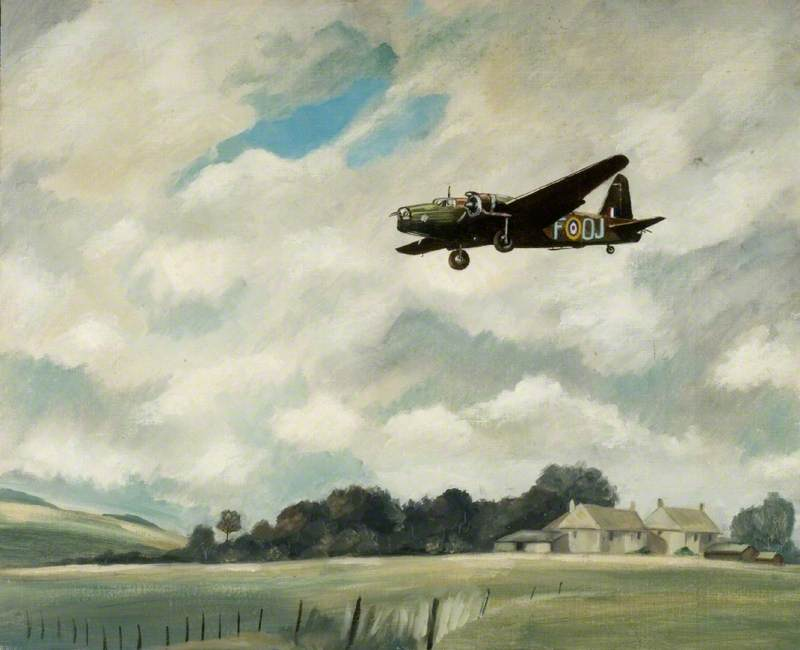 Wellington Bomber Coming in to Land