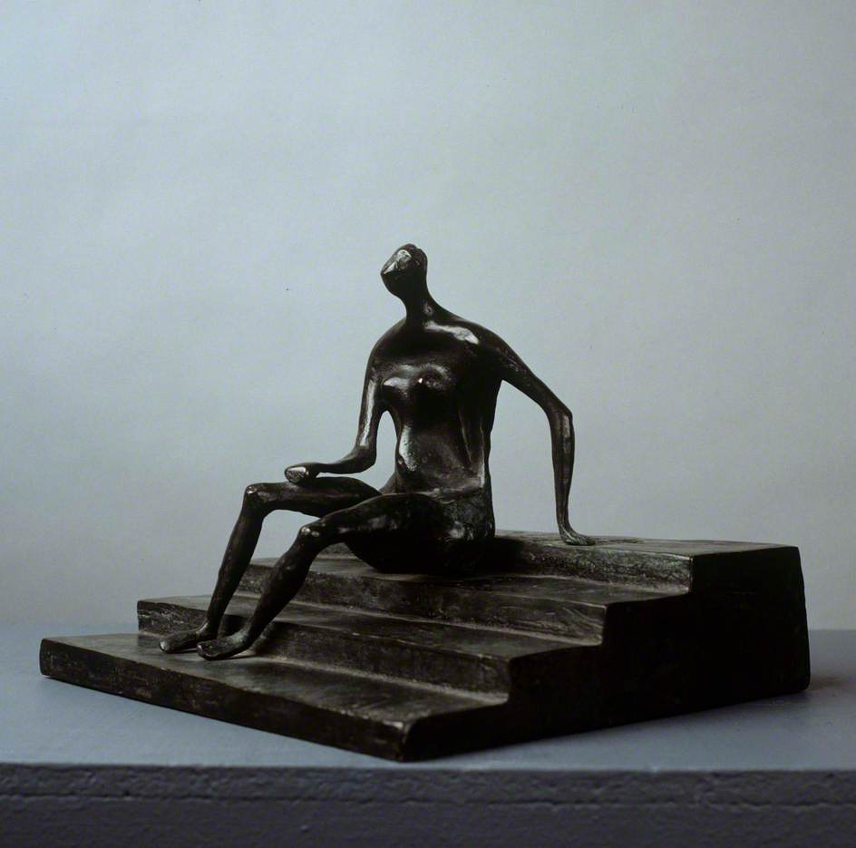 Seated Figure on Square Steps