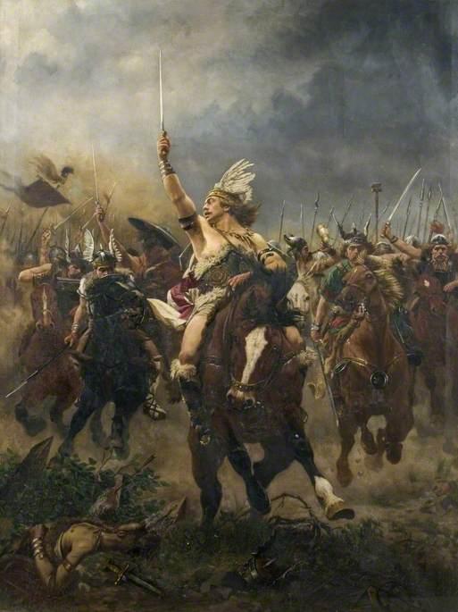 Viking Warriors Charging Art Uk