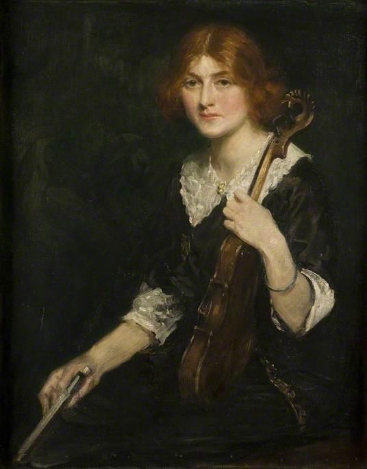 Ann with a Violin