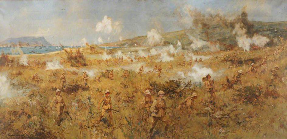 The 1st Battalion, Herefordshire Regiment (TF), Landing at Suvla Bay, Gallipoli, Turkey, 9 August 1915