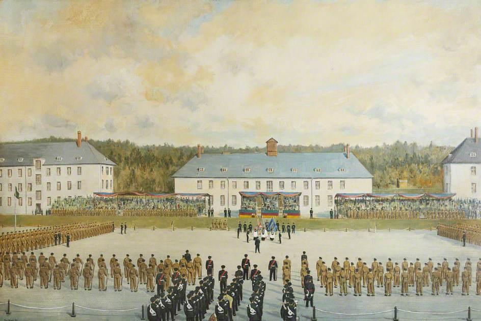 Presentation of Colours to the 1st KSLI at Göttingen, Germany, 15 October 1954
