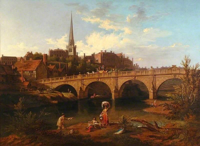 A View of English Bridge, Shrewsbury, Shropshire