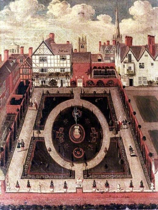A Formal Garden in Dogpole, Shrewsbury, Shropshire