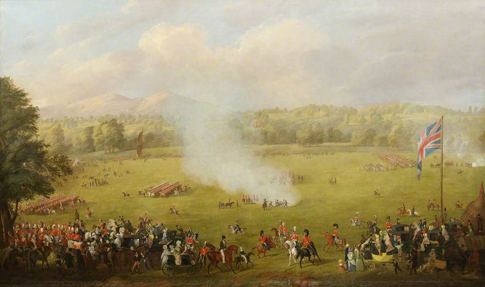 Review of the Worcestershire Yeomanry Cavalry Queen's Own Worcestershire Hussars at Kempsey Ham
