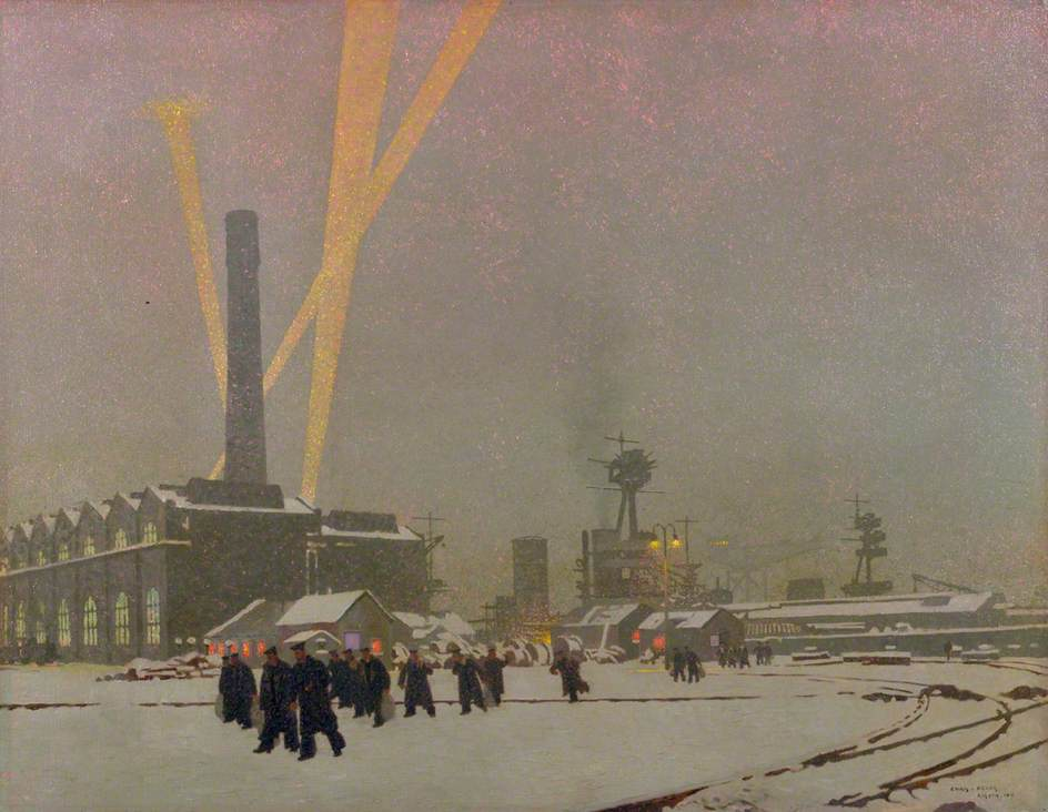 A Corner of the Dockyard, Rosyth: Winter